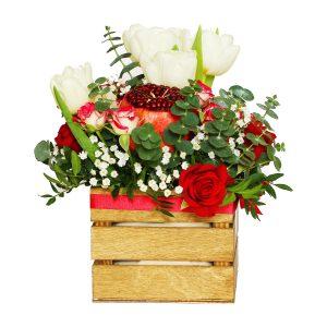 Ovocno-kvetinový aranžmán - Flora Shop Ateliér - kvetykytice.online