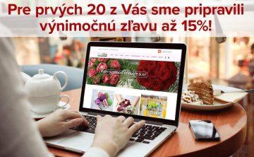Zľava - Flora Shop Ateliér - kvetykytice.online
