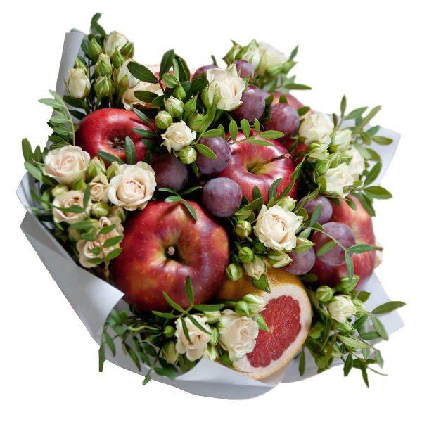 Ovocno-kvetinová kytica - Flora Shop Ateliér - kvetykytice.online