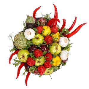 Ovocno-zeleninová kytica - Flora Shop Ateliér - kvetykytice.online
